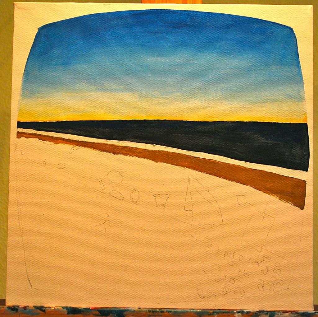 Painting Step Three Coastline