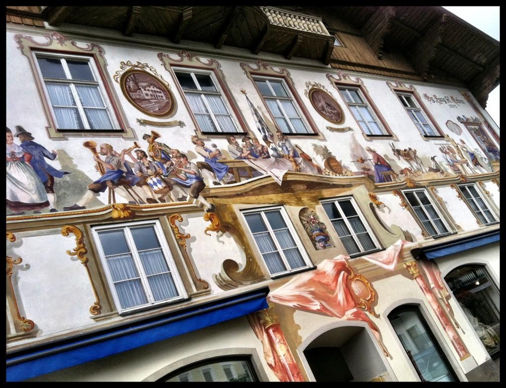 Luft Malerei Oberammergau