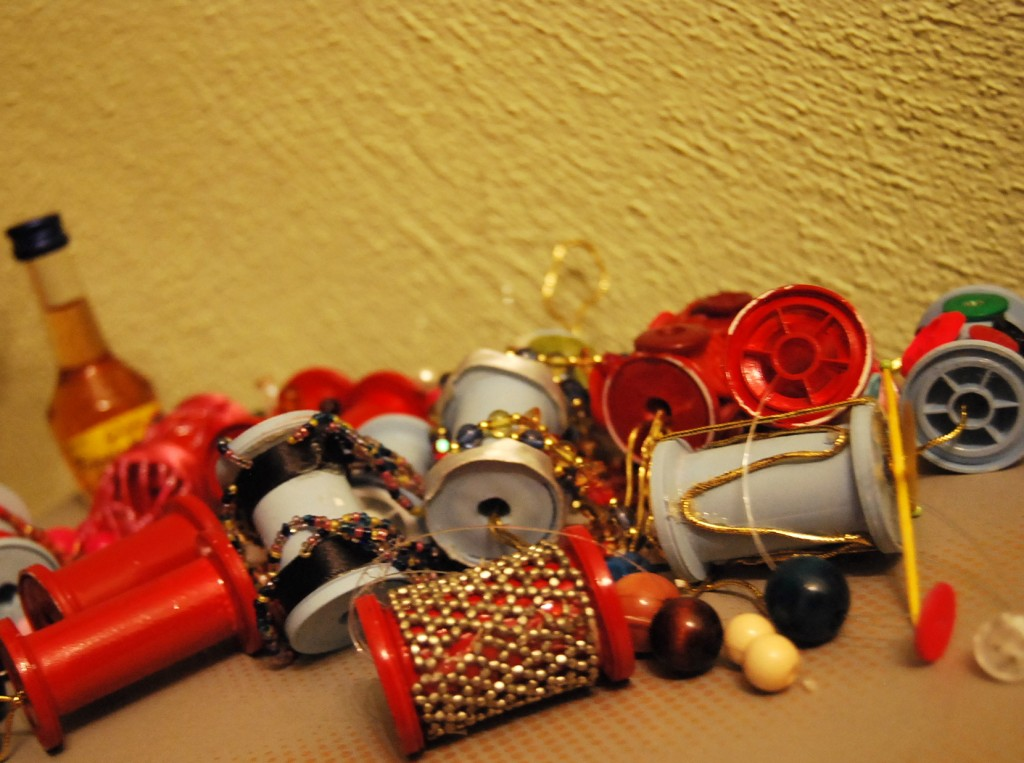 thread spool ornaments