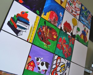 Tiles on Canvas