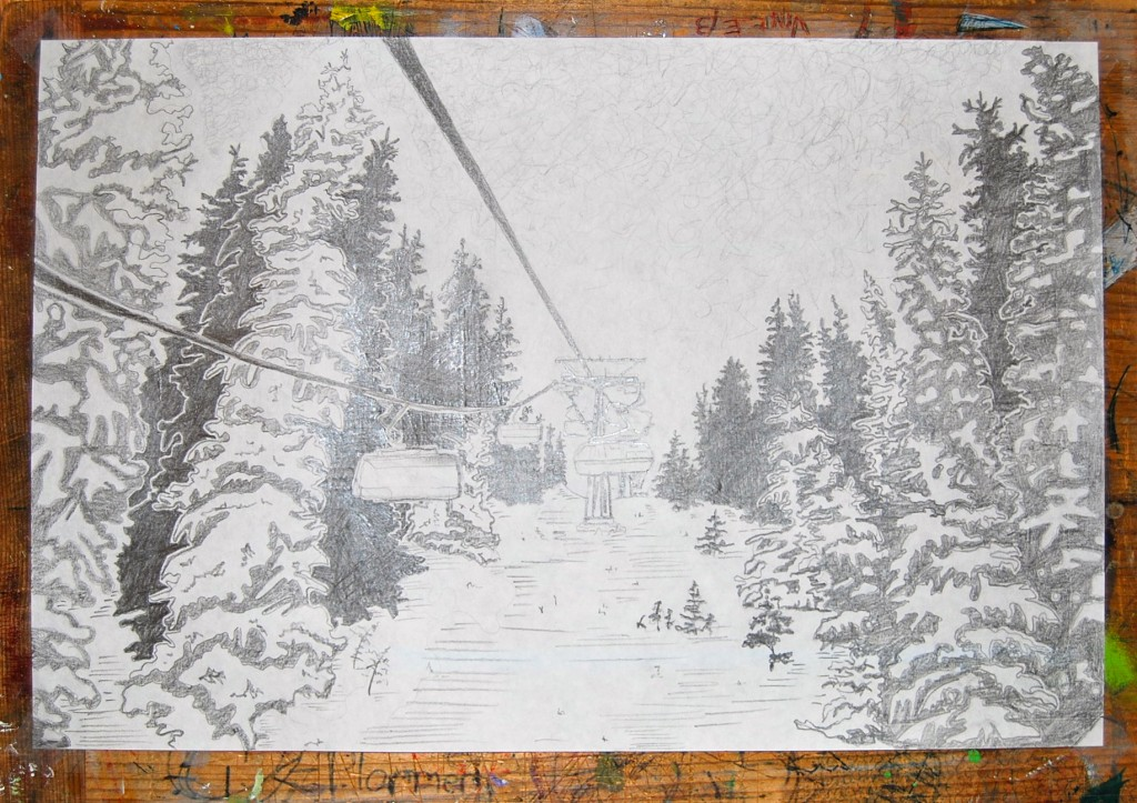 Sketch chairlift