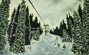 Chair Lift Painting