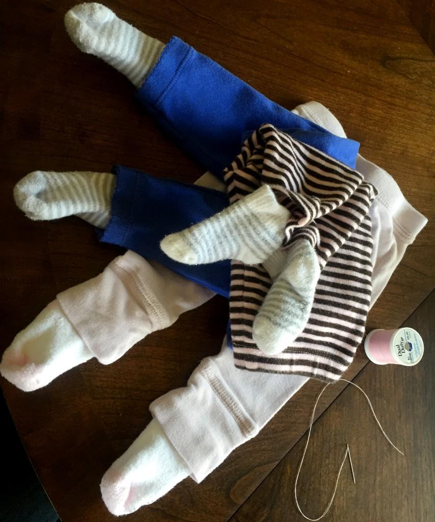 Socks on Baby Pants
