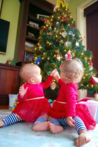 Babies by the Tree